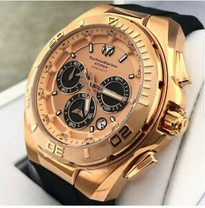 Technomarine Watch For Men 115346 Steel Color Gold Pink 46MM ...