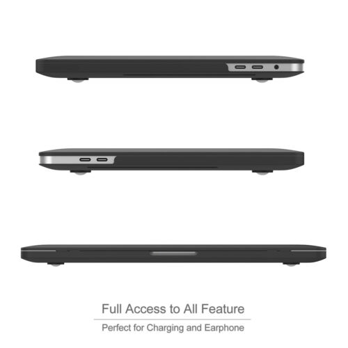 """Keyboard Cover for Macbook Pro 13//15/"""" Air 12//13inch Black Matte Hard Case Shell"""