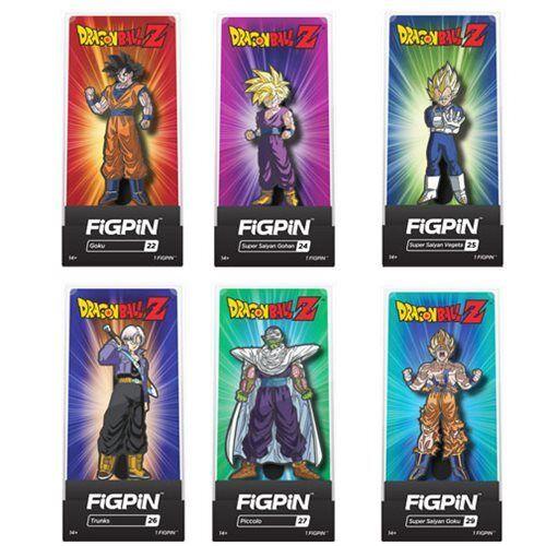 PRE ORDER! Dragon Ball Z FiGPiN Enamel Pins 6-Pack Display Case Set
