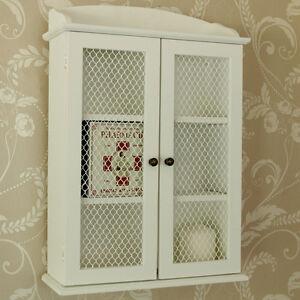 mesh wall cabinet shabby vintage style home bathroom storage unit