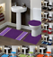 thumbnail 1 - 3-Piece-Bathroom-Bath-Mat-Contour-Rug-Set-with-Toilet-Lid-Cover-7