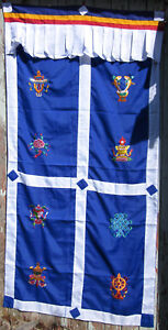 Image is loading NEPAL-TRADITIONAL-TIBETAN-BUDDHIST-DOOR -CURTAIN-BEAUTIFUL-EMBROIDERY-  sc 1 st  eBay & NEPAL TRADITIONAL TIBETAN BUDDHIST DOOR CURTAIN BEAUTIFUL EMBROIDERY ...