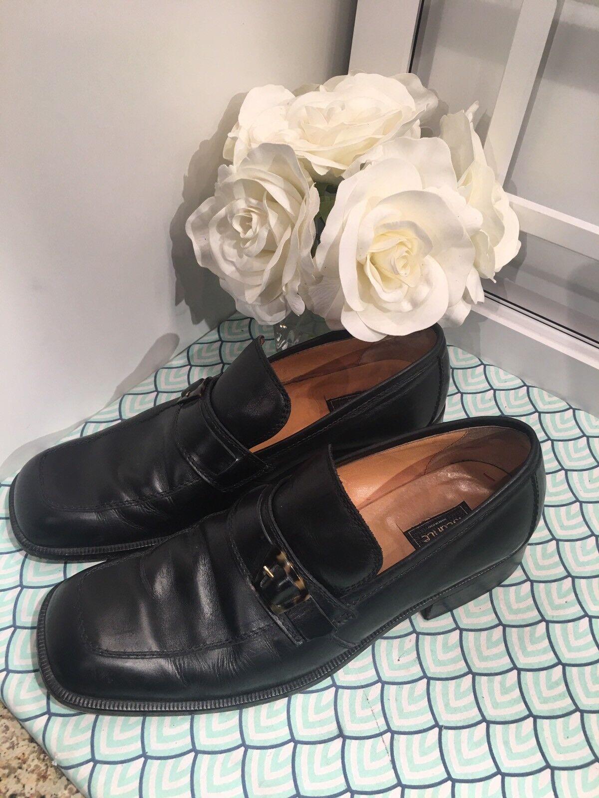Versace Versace Versace herren schwarz leather loafers, Größe 45, 12US,  550, Istante  c806ba