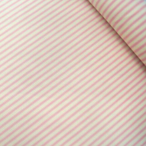 100/% Cotton Poplin Fabric Rose /& Hubble Ticking Stripes Fashion Dress Material