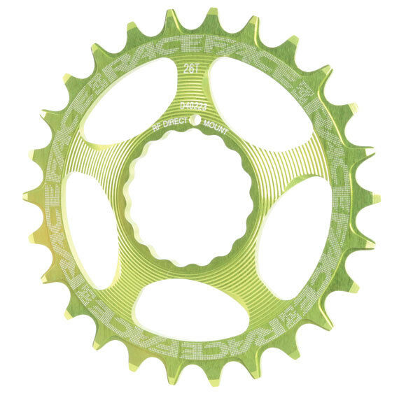 Race Face Single Narrow Wide 1x MTB Direct Mount Cinch Chainring 28t Green