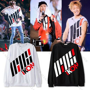 Kpop-IKON-Sweater-iKONCERT-Hoodie-Sweatershirt-Unisex-Pullover-Bobby-BI-Jin-Hwan