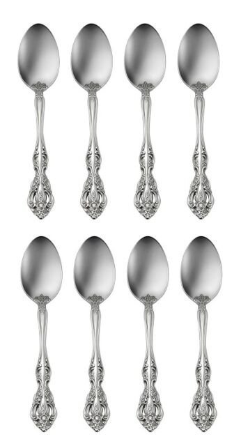 8 Michelangelo Teaspoons Oneida New 18/10 Stainless Free Shipping