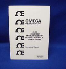 Omega CL23 Calibrator-Thermometer Operator's Manual