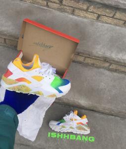 111 Rainbow 318429 Platino Huaraches Personalizzato Huarache Air Nike personalizzato 8xt1q