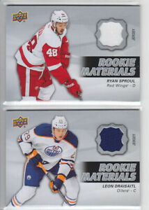 2014-15-UD-SERIES-RYAN-SPROUL-ROOKIE-MATERIALS-RC-Upper-Deck-RM-14-Wings