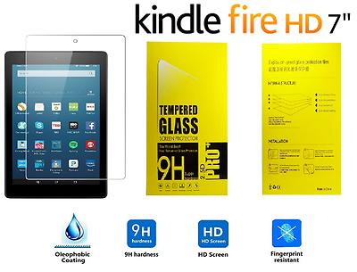 "100% Genuine Tempered Glass Screen Protector For Amazon Kindle Fire Hd 7"" Direktverkaufspreis"