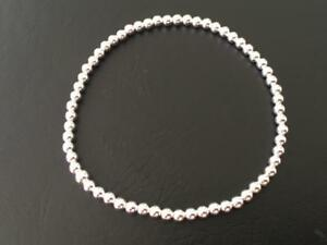 Genuine-925-Sterling-Silver-Balls-Ball-Bracelet-Elastic-Stretch-Women-Girls