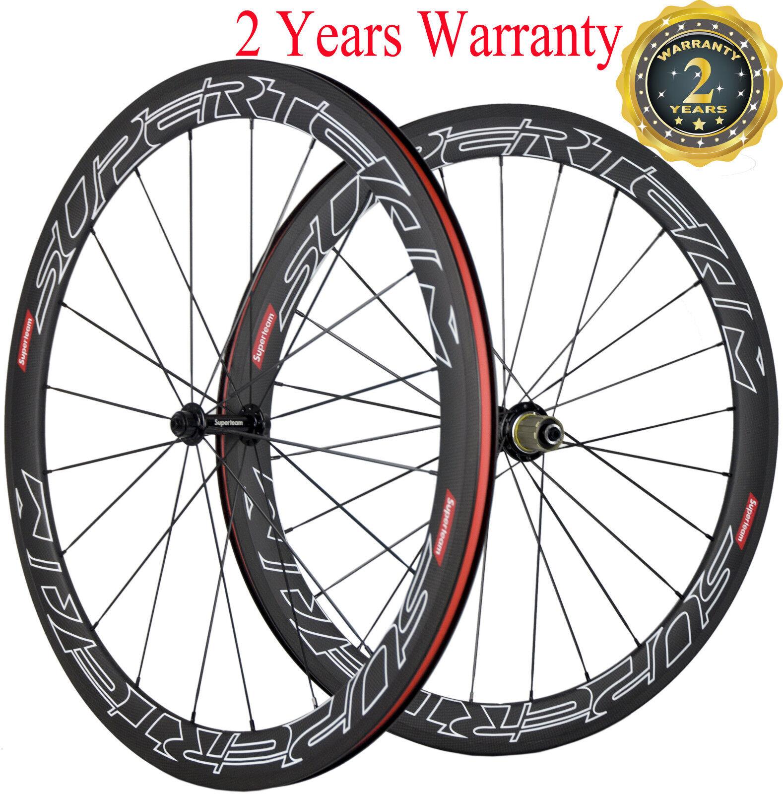 Superteam 50mm Clincher Wheels Road Bike Cycling Bicycle Wheelset 700C Race Bike