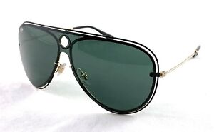 46ae5198cb RAY-BAN RB 3605 - N 187 71 Black Gold Dark Green sunglasses 33-00 ...