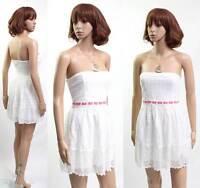 Cute Hollister White Dress - Size M Rrp $94 (d70)