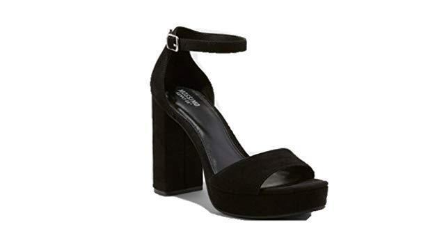 07926512a7a Mossimo Supply Co Fabiola Platform Block Heel Open Toe PUMPS Black Sz 8 for  sale online