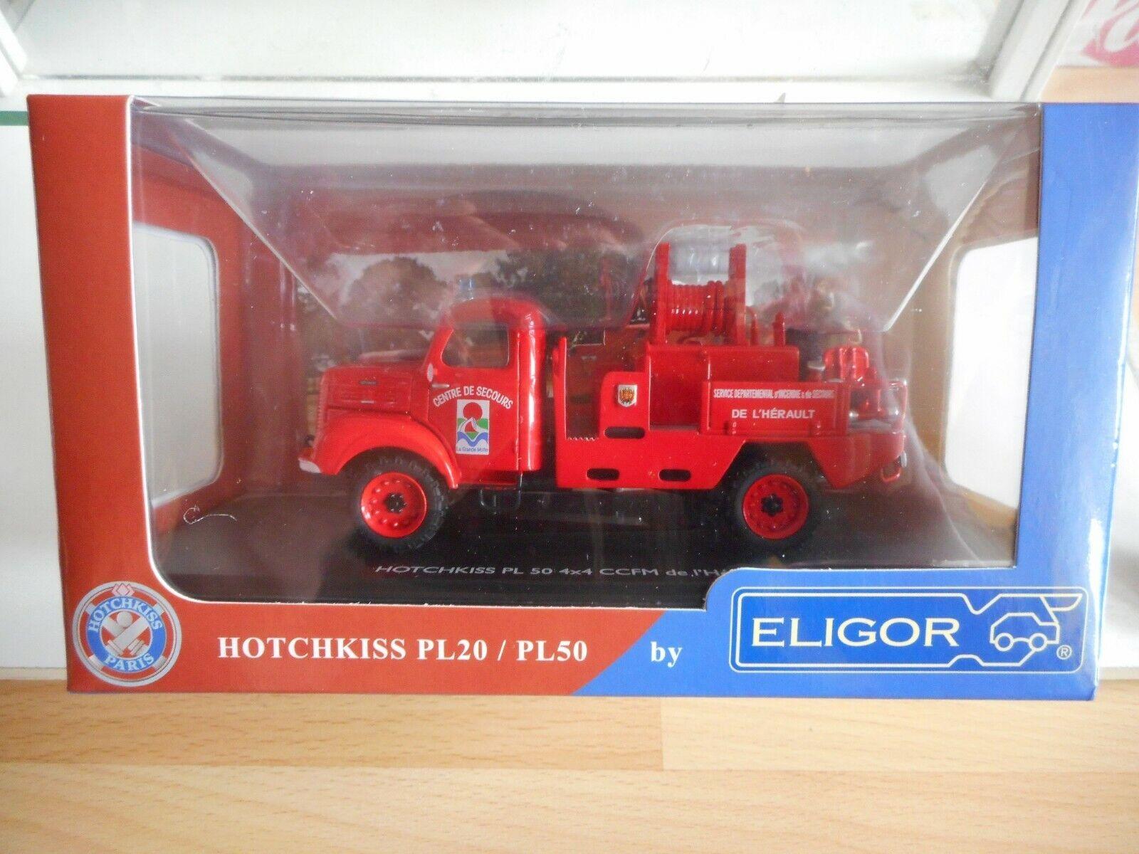 Eligor Hotchkiss PL 50 4x4 CCFM de l'Herault in rosso on 1 43  in Box