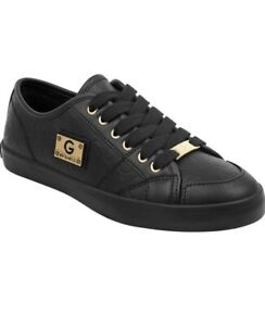 G-By-Guess-Matrix4-Logo-Embossed-Sneakers-size-9-5-M-Black-Color