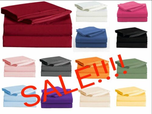 """Persian Collection 1900 Count Sheet SET 16/"""" Deep Pocket Wrinkle Free Bedding"""