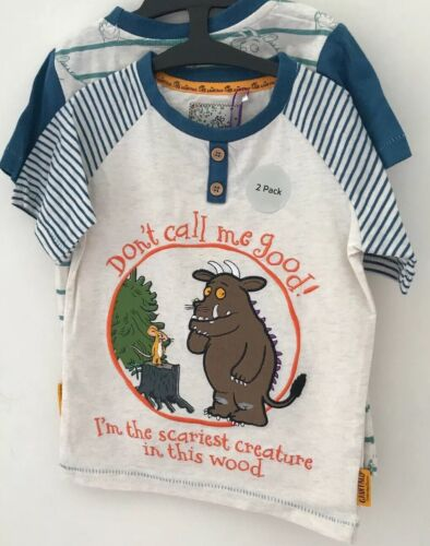 2 Short Sleeved The Gruffalo Cotton T-shirts Aged 2-3 Years