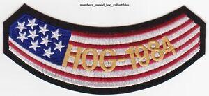 1984 HOG Members Patch HARLEY DAVIDSON OWNERS GROUP vest rocker HD MC club