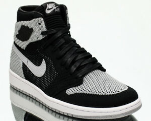 huge selection of 9659a 06029 Image is loading Air-Jordan-1-Retro-High-Flyknit-Shadow-Grey-