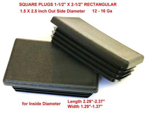 "12-16 n 14-20 G 1 1//2/"" x 2 1//2/"" Rectangular Cap Plugs 1.5 x 2.5 Inches End Caps"