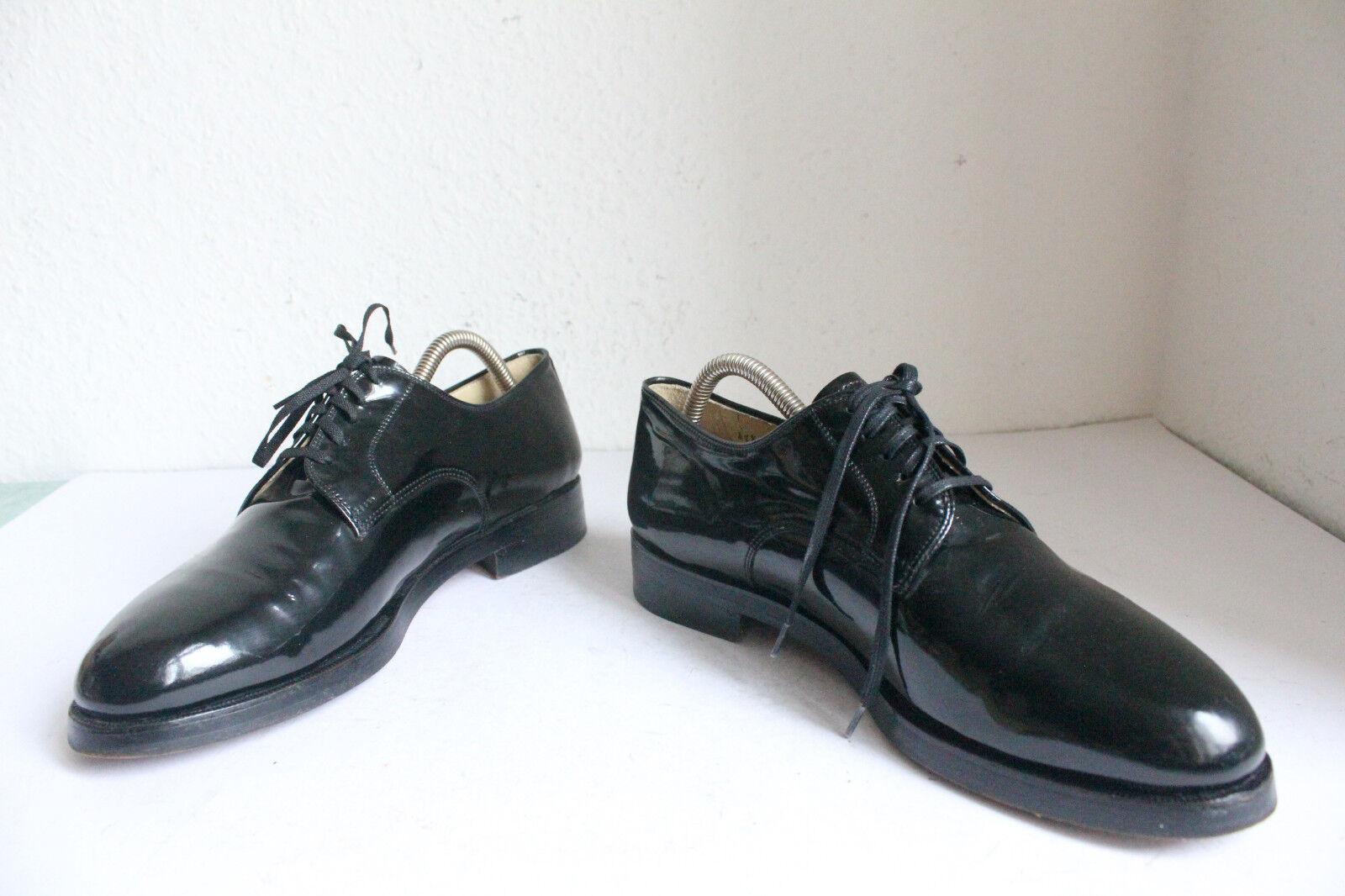 Sir David&Son Elegante British schuhe- Schuhe voll Echtleder-Lack Schwarz Eu 41