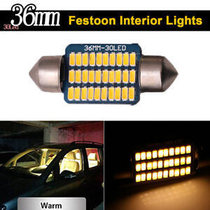 4X Festoon Dome Led Map Light 3014 27SMD 36mm C5W Canbus Error Free LED Bulbs