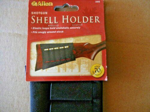 Allen Buttstock Shotgun Shell Holder Carrier Black 5 Shotshells Rounds CLEARANCE