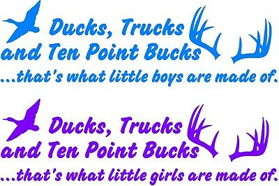 Dirt Mud Bucks and Trucks little boys are made of ~ Wall or Window Decal