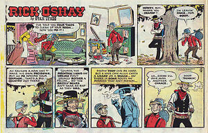 Rick-O-039-Shay-by-Stan-Lynde-half-tab-color-Sunday-comic-page-October-18-1970