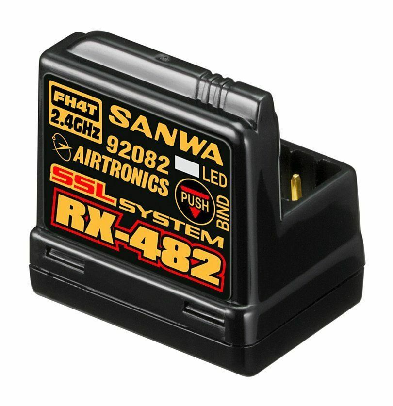 Nuovo Sanwa RX-482 RX482 2.4GHz 4-Channel FHSS-4 SSL Telemetry Receiver for M12