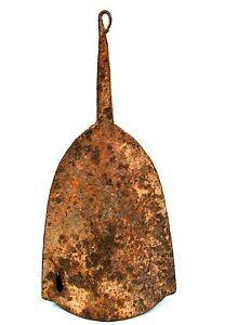 Arte Africano - Antica Campana Di Gong Baule IN Ferro - Oggetto Non-Comuni -