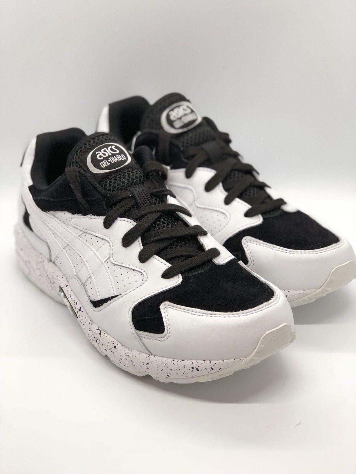 New Asics Mens Gel Diablo Diablo Gel Size 9 Running Shoes Black / White HL7K2-0101 6c2259