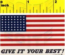 Miniature   'Give it your best'  Stars & Stripes Poster Print  - Dollhouse 1:12