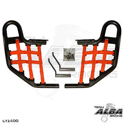 LTZ 400 Kfx 400 DVX 400   Nerf Bars  Alba Racing  Silver bar Black nets 206 SB