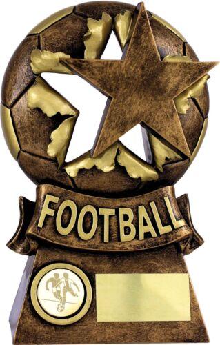 Trophées de football football résine Boule /& Star Trophy Award 3 tailles Gravure Libre
