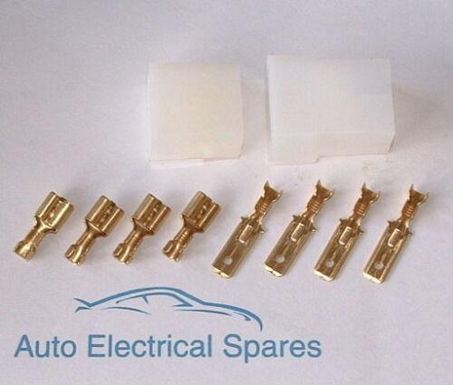 Kit de Coche Clásico 4 manera Enchufe Macho//Hembra Multi Cable Conector con terminales