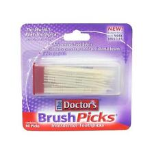 2 Pack - The Doctors BrushPicks - Interdental Toothpicks - 60 Count Each