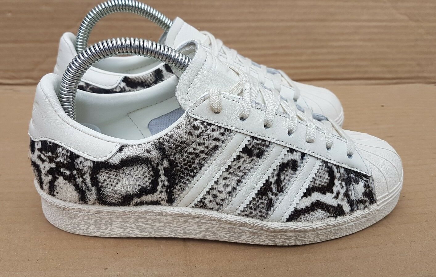 ADIDAS SUPERSTAR 80's PONY HAIR LEOPARD PRINT TRAINERS RARE SIZE 5 UK RARE TRAINERS STUNNING 4845f3