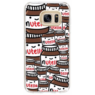 Samsung Silicone Cover Case Nutella Funny Chocolate Happiness Food - Coverlads