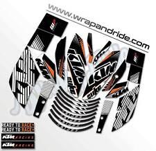 KTM rokbagoros inspired Graphics Kit [White & Orange Combo] Duke 200 / 390.
