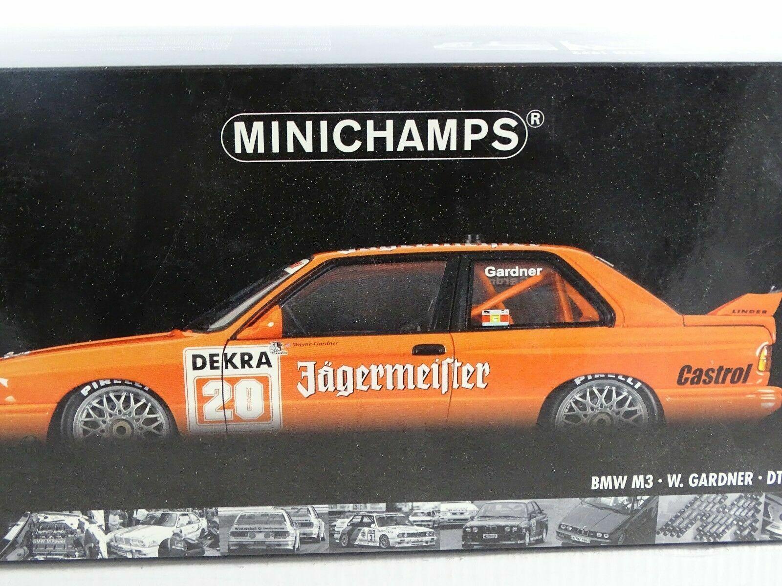 1 18 Minichamps-BMW m3 W. Gardner Jagermeister  20 DTM 1992 RARE-Neuf Neuf dans sa boîte