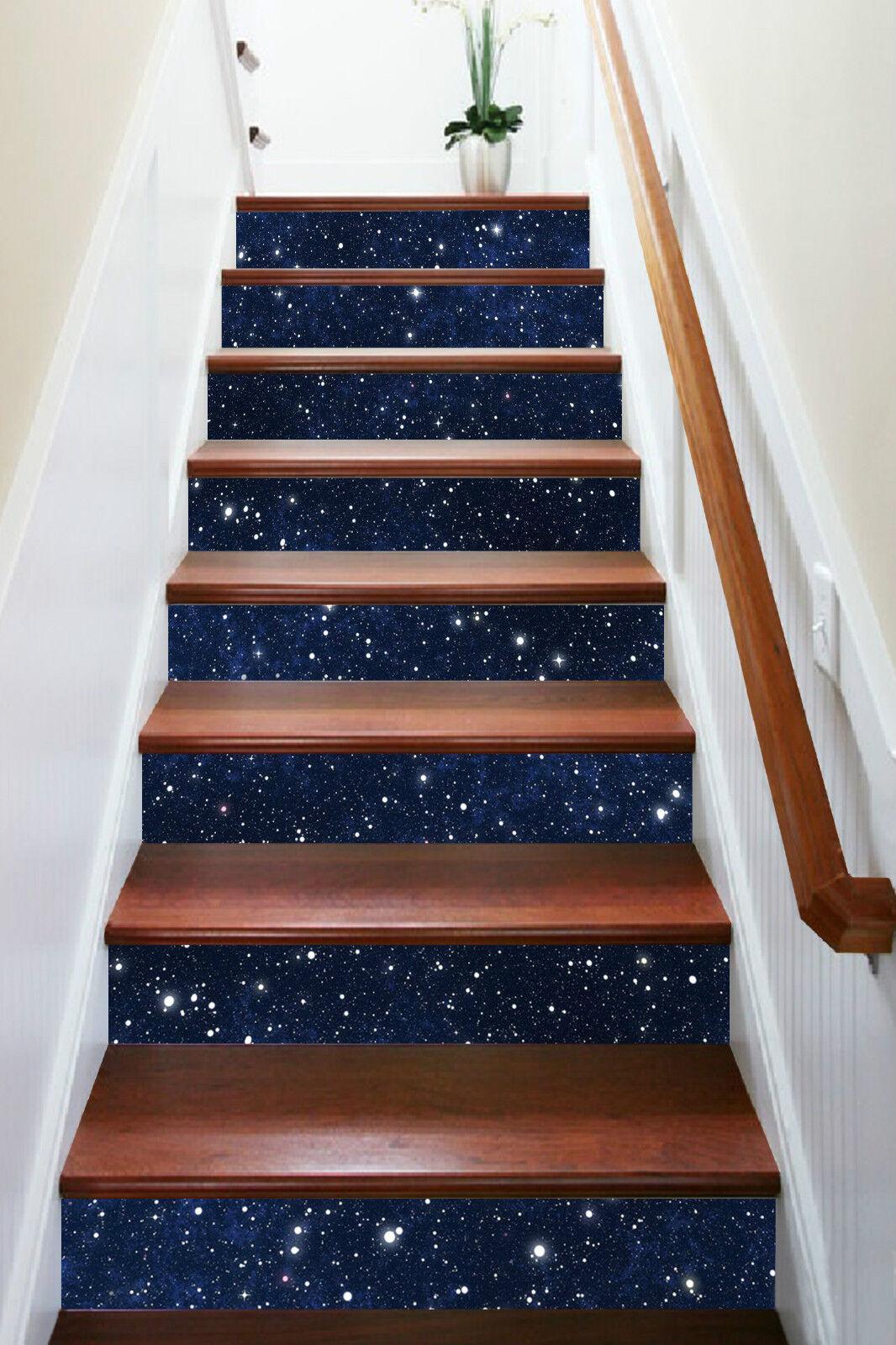 3D Stern Himmel 783 Stair Risers Dekoration Fototapete Vinyl Aufkleber Tapete DE