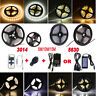 Dimmable 5M 3014 5630 SMD Warm Cool White 300 LED Strip Light+ Remote+12V Power