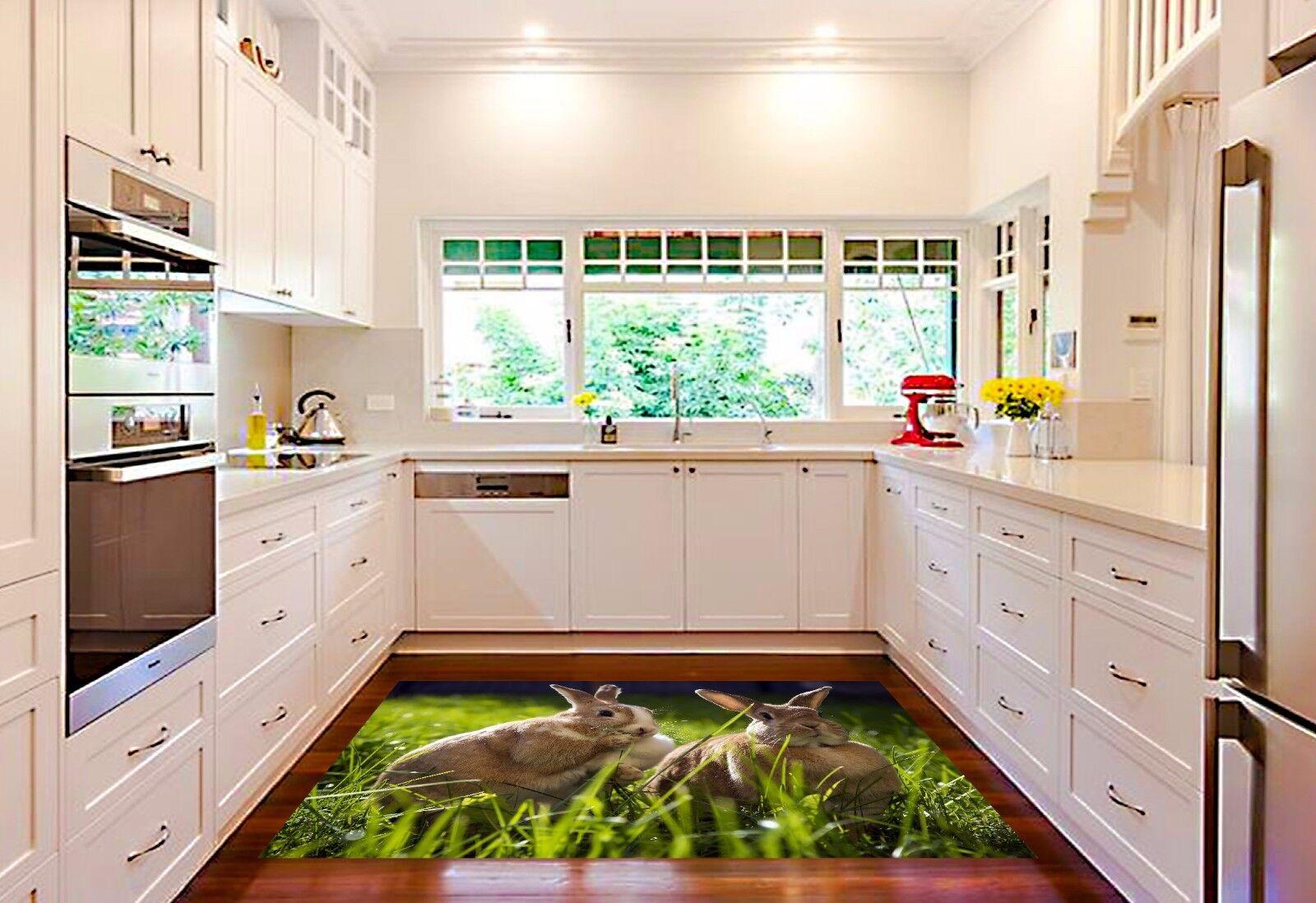 3D 3D 3D Hare Bush 826 Kitchen Mat Floor Murals Wall Print Wall AJ WALLPAPER UK Kyra 5fc121