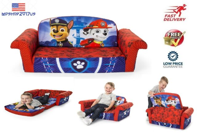 Flip Open Sofa Spiderman Marshmallow Sofas For Kids Pull Out Bed