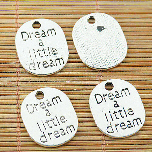 8pcs Tibetan silver dream a little dream oval charms EF1678