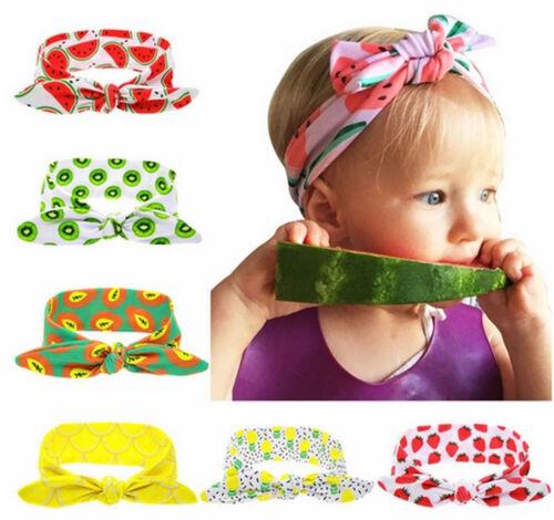 Baby Kinder Stirnband KNOTEN Schleife SOMMER-OBST Haarband Mädchen Haarschmuck